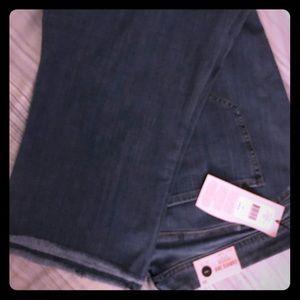NWT NYDJ Curves 360 Boost skinny crop jeans, sz 26